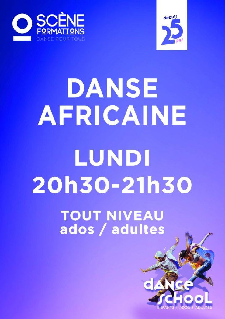 COURS DE DANSE AFRICAINE. ADOS et ADULTES TOUT NIVEAU LE LUNDI 20H30-21H30 ESSAI GRATUIT