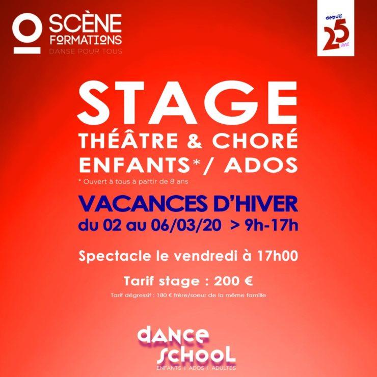 théâtre, danse, chorégraphie, enfant, ados, vacances
