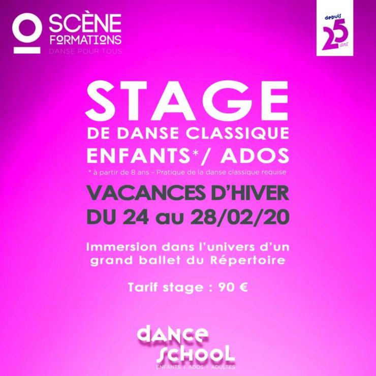 Stage de vacances, vacances d'ivers, stage enfants/ados, danse classique